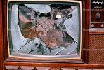 glass shattered, TV, Television, TMRV01P03_06.2644