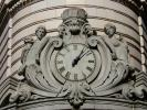 Clock, Round, Circular, Circle, statue, Ornate, roman numerals, outdoor clock, outside, exterior, building, TMWD01_001