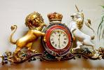 Clock, Roman Numerals, Lion, Unicorn, Royal Clock, Crown, TMWV01P01_01.0167