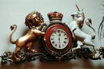 Clock, Roman Numerals, Lion, Unicorn, Royal Clock, Crown, TMWV01P01_02