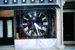 Clock, outdoor clock, outside, exterior, building, roman numerals, TMWV01P08_11