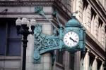 Outdoor Clock, outside, exterior, building, roman numerals, TMWV01P10_09