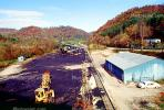 Coal Mining, Conveyer Belt, Loading Station, Warehouse, near Hazard, Kentucky, Hills, Fall Colors, Autumn, TOMV01P08_04