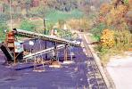 Coal Mining, Conveyer Belt, Loading Station, Warehouse, near Hazard, Kentucky, Hills, Fall Colors, Autumn, TOMV01P08_05