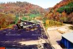 Coal Mining, Conveyer Belt, Loading Station, Warehouse, near Hazard, Kentucky, Hills, Fall Colors, Autumn, TOMV01P08_06