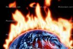 global warming, explosion, armagedon, armaggedon, armageddon, The World Ablaze, Burning Globe, flames, fire, circle, round, Climate Change, Earth, circular, TOPV03P01_16
