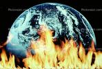 global warming, explosion, armagedon, armaggedon, armageddon, The World Ablaze, Burning Globe, flames, fire, circle, round, Climate Change, Earth, circular, TOPV03P01_17