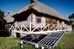 Photovoltaic Solar Cells, Thatched Roof House, home, dwelling unit, porch, Sod, TPSV01P06_10