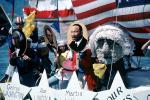 George Washington, Abe Lincoln, Martin Luther King, Opening Day on the Bay, Yellow Ribbons, American Revolution, History, MLK, TSCV07P02_09