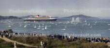 Queen Mary 2 enters San Francisco Bay, IMO: 9241061, Ocean Liner, Cunard Line, Steamship