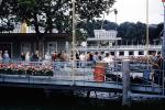 Pier, dock, flowers, Lake Geneva, 1950s, TSPV01P03_18