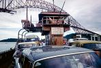 Car Ferry, Ferryboat, automobile, vehicles, Bridge construction, 1950s, TSPV01P03_19