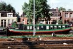 Canal Boat, homes, houses, railroad tracks, 1950s, TSPV01P09_11