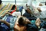 People sleeping on a boat, Sumatra Island, Indonesia, TSPV03P02_06