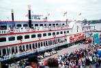 Belle of St. Louis, paddle wheel steamboat on the Mississippi River