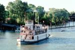 waterfront, paddle wheel steamboat on the Sacramento River, Old Town