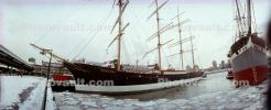 Peking Sailing Ship, Panorama, Wavertree, iron-hulled sailing ship, South Street Seaport museum, Manhattan, TSTV01P09_10