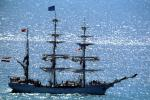 Cuauhtemoc, 3-masted steel barque, Steel-hulled sail training vessel, windjammer, Mexican Navy, Mexico