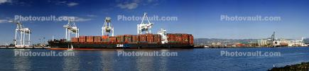 ZIM Piraeus, Container Ship, Cranes, Panorama, IMO: 9280847