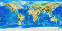 World Map, topographical of land masses and the oceans, UPDD01_032