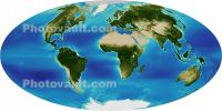 Thirteen Years of Greening from SeaWiFS, The Whole Earth, Globe, world map, UPDD01_037