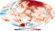 2008 Surface Temperature Anomaly, Worldwide measurements, 2008 compared to the 1950-1980 time period, world map, Climate Change, UPDD01_040