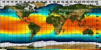 World Map, Ocean Temperatures, Climate Change, UPDV01P03_12