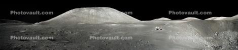 Panorama of the Taurus-Littrow valley on the moon, Apollo 17, USLD01_006