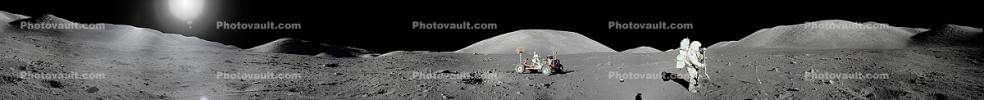 Moon Buggy, Astronaut, Geology, Geology, Apollo 17 Moon Panorama, USLD01_007