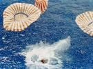 Apollo 15 splashdown, Capsule, Aug. 7, 1971, 330 miles north of Honolulu, Hawaii, Command Module, USLV01P06_06