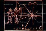 Pioneer 10 Plaque, gold-anodized aluminium plaque, pictorial message, USPV01P02_12