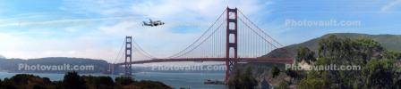 Last flight of the Space Shuttle Endeavor, over the Golden Gate Bridge, Shuttle Carrier Aircraft (SCA), Space Shuttle Ferry, NASA Space Shuttle Carrier, Boeing 747-100, USRD01_026