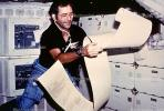 Flotaing Astronaut, scroll sheet printout, USRV01P02_16