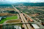overpass, Valley, hills, homes, Danville