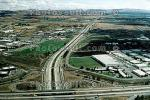 Cloverleaf Interchange, overpass, underpass, freeway, highway, Interstate Highway I-680, I-580, VARV01P04_02