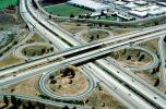 Cloverleaf Interchange, overpass, underpass, freeway, highway, Interstate Highway I-680, I-580, VARV01P04_03