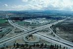 Cloverleaf Interchange, overpass, underpass, freeway, highway, Interstate Highway I-680, I-580, VARV01P04_10