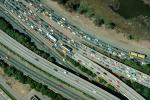 Interstate Highway I-580, Castro Valley, California, Traffic Level-D, Traffic Jam