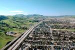 Interstate Highway I-680, Hills, Suburbia, San Ramon, California, VARV01P06_19.0898