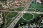 Cloverleaf Interchange, overpass, underpass, freeway, Highway 101, Four-way Interchange, Homes, houses, neighborhood, suburbia, suburban, VARV01P08_14