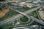 Cloverleaf Interchange, Partial Diamond Interchange, overpass, underpass, intersection, freeway, highway, symmetry, exit, Interstate Highway I-680, Four-way Interchange, VARV01P12_01
