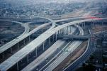 Stack Interchange, Interstate Highway I-110, Freeway, Highway, Interchange, I-105, VARV02P13_08