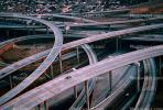 Maze, tangle, overpass, underpass, Stack Interchange, Interstate Highway I-110, Freeway, Highway, Interchange, I-105, VARV02P13_09.0562
