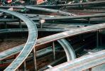 Stack Interchange, Maze, tangle, overpass, underpass, Interstate Highway I-110, Freeway, Interchange, I-105, VARV02P13_09B.0562