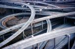 Stack Interchange, Interstate Highway I-110, Freeway, Highway, Interchange, I-105, Maze, tangle, overpass, underpass, Road, VARV02P13_10