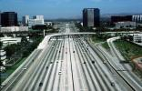 Interstate Highway I-405, Irvine, California, cars, Level-A traffic, buildings, skyline, freeway, cars, VARV02P14_17