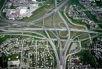 Hybrid Half Cloverleaf Interchange, Stack, Maze, tangle, overpass, underpass, freeway, highway, ribbon