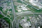 Hybrid Half Cloverleaf Interchange, Maze, tangle, overpass, underpass, freeway, highway, ribbon