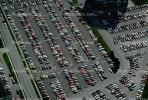 Parking Lot full, parked cars, stalls, automobile, sedan, streets, road, VARV03P02_04.4247