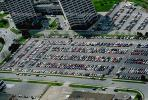 Parking Lot full, parked cars, stalls, automobile, sedan, streets, road, VARV03P02_05.4247